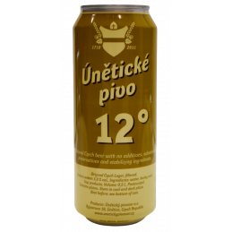 Únětické pivo 12° can 0,5l